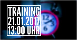Training am 21.01.2017